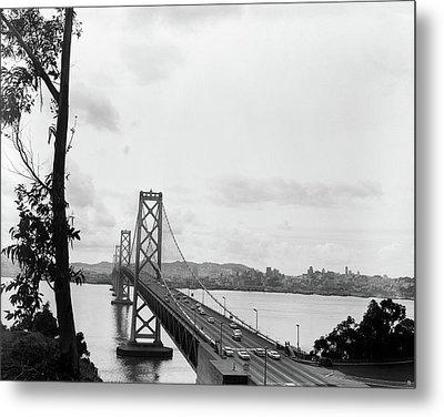 1950s Oakland Bay Bridge San Francisco Metal Print