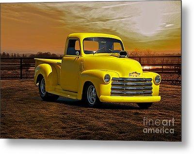1953 Chevrolet Pick Up 'custom' Truck Metal Print by Dave Koontz