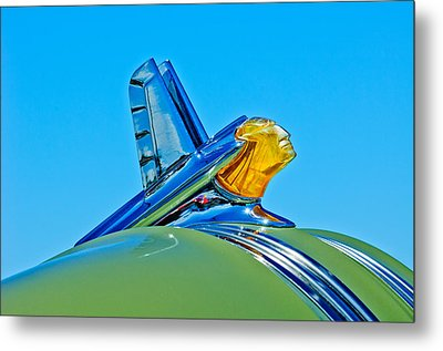 1953 Pontiac Catalina Hood Ornament Metal Print