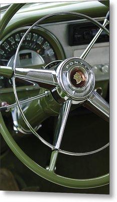 1953 Pontiac Steering Wheel Metal Print