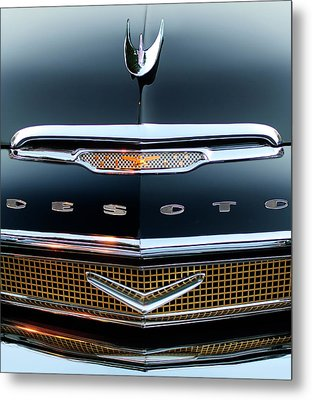 1956 Desoto Hood Ornament 2 Metal Print