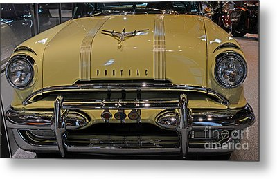 1955 Pontiac Chieftain Front Metal Print by Paul Ward
