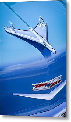 1956 Chevrolet 210 2-door Handyman Wagon Hood Ornament - Emblem Metal Print by Jill Reger