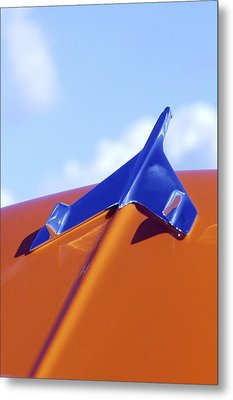 1956 Chevrolet Belair Hood Ornament Metal Print