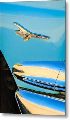 1956 Ford Fairlane Thunderbird Emblem Metal Print by Jill Reger