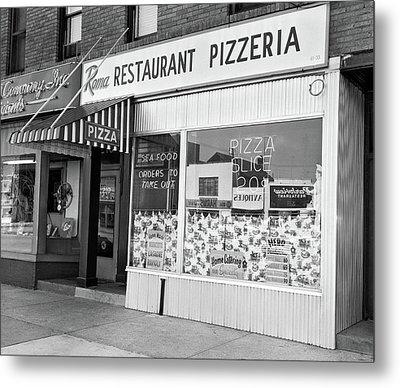 1960s Restaurant Pizzeria Storefront Metal Print