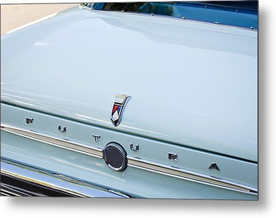 1963 Ford Falcon Futura Convertible  Rear Emblem Metal Print by Jill Reger