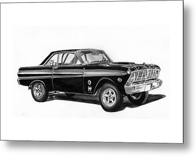 1965 Ford Falcon Street Rod Metal Print