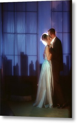 1970s Couple In Formal Attire Dancing Metal Print