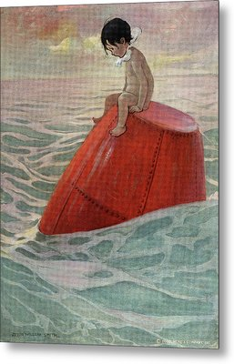 1910s 1916 Illustration From The Water Metal Print