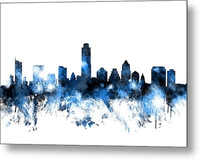 Austin Texas Skyline Metal Print