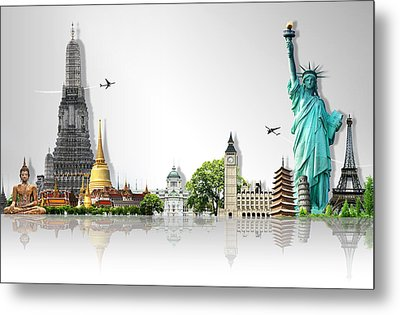 Background Travel Concept  Metal Print by Potowizard Thailand