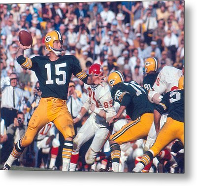 Bart Starr By Art Rickerby Metal Print