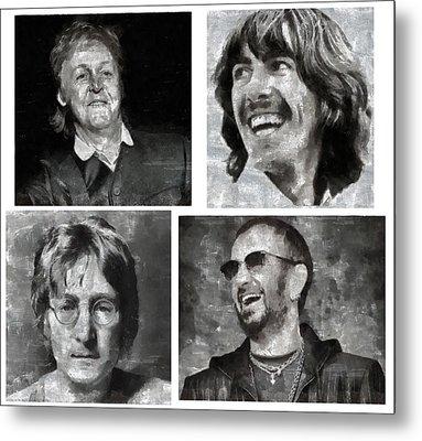 Beatles Metal Print by Galeria Zullian  Trompiz