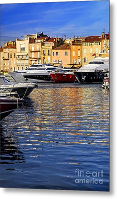 Boats At St.tropez Metal Print by Elena Elisseeva