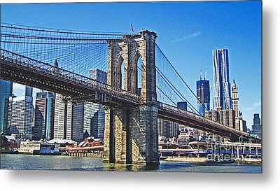 Brooklyn Bridge  Metal Print by Alison Tomich