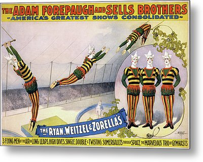 Metal Print featuring the painting Circus Poster, C1898 by Granger