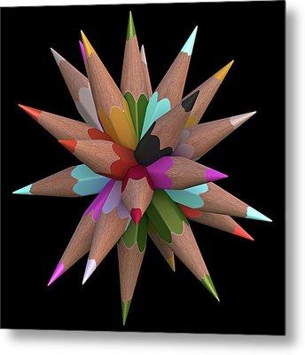 Colouring Pencils Metal Print
