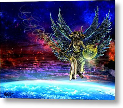 Descending Seraphim Metal Print by Michael Schneider
