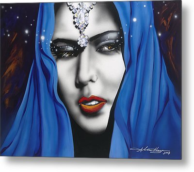 Desert Moon Metal Print by Alicia Hayes