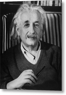 Dr. Albert Einstein Metal Print by Retro Images Archive