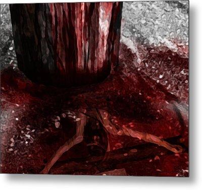 Foot Of The Cross Metal Print by Mark Spears