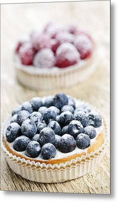 Fruit Tarts Metal Print by Elena Elisseeva