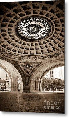 Grand Rotunda Pennsylvanian Pittsburgh Metal Print by Amy Cicconi
