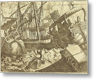 Jacques Callot French, 1592 - 1635, Storm Off The Coast Metal Print
