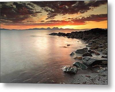Jura Sunset Metal Print by Grant Glendinning