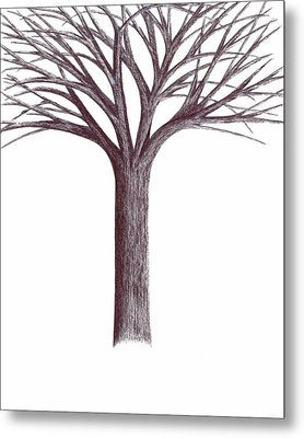Metal Print featuring the drawing Second-generation....tree Without Roots by Giuseppe Epifani