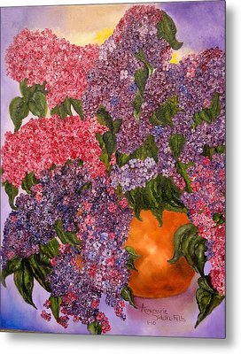 Lilacs Galore Metal Print