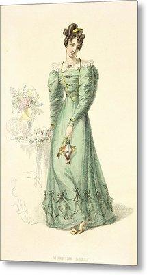 Morning Dress, Fashion Plate Metal Print by English School
