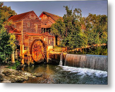 Old Water Mill Metal Print