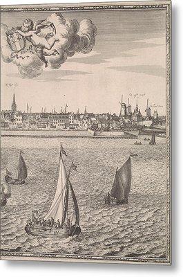 Panorama Of Rotterdam, The Netherlands, Jan Houwens Metal Print