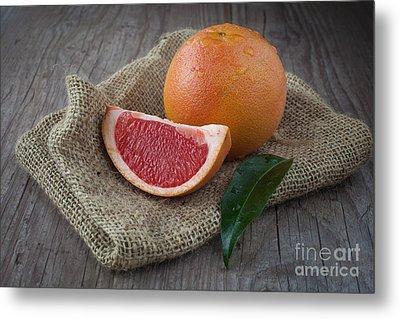 Pink Grapefruit Metal Print by Sabino Parente