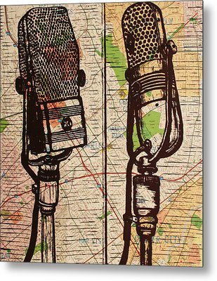 2 Rca Microphones Metal Print by William Cauthern