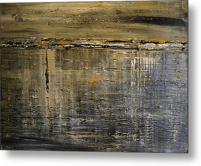 Metal Print featuring the painting Reflection Series by Dolores  Deal
