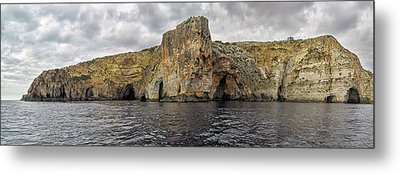 Rock Formations In Mediterranean Sea Metal Print by Panoramic Images