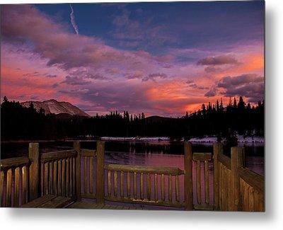 Sawmill Lake Sunset Metal Print