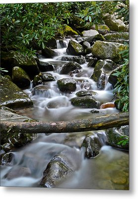 Scenic Cascade Metal Print by Frozen in Time Fine Art Photography