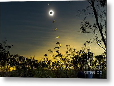 Solar Eclipse Composite, Queensland Metal Print by Philip Hart