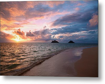 Sunrise At Lanikai Beach  Kailua Metal Print by Tomas del Amo