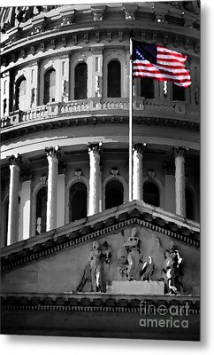 United State Capitol Building Metal Print by Lane Erickson