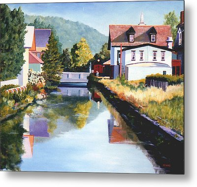 View Along The Canal Metal Print by Robert Henne