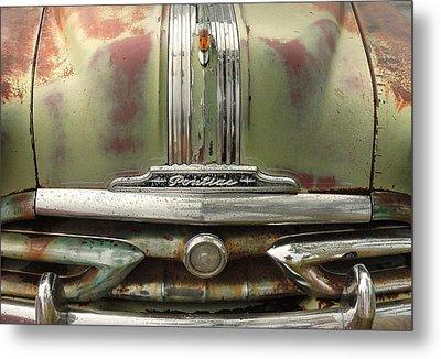 Vintage Pontiac Grille Metal Print by Jim Hughes