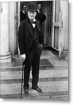 Winston Churchill Metal Print by Retro Images Archive