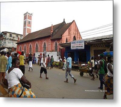 200 Year Old Methodist Church-sani Abacha Street  Metal Print by Mudiama Kammoh
