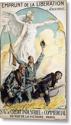 World War I French Poster Metal Print