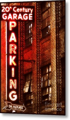 24-hour Garage Metal Print by Miriam Danar